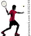 网球 球员 后视图 38192249
