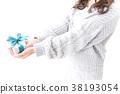 여성, 하트, 실내 38193054