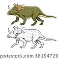 Dinosaur Triceratops, skeletons, fossils 38194720