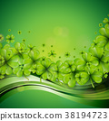 Saint Patricks Day Background Design with Green 38194723