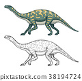 dinosaur, barosaurus, illustration 38194724