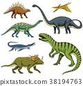 Dinosaurs set, Tyrannosaurus rex, Triceratops 38194763