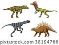 small dinosaurs, deinonychus, stegosaurus 38194766