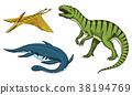 Dinosaurs Tyrannosaurus rex, elasmosaurus 38194769
