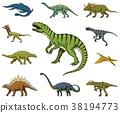 Dinosaurs set, Tyrannosaurus rex, Triceratops 38194773