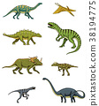 Dinosaurs set, triceratops, barosaurus 38194775
