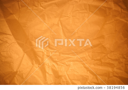 Brown crumpled paper background. 38194856