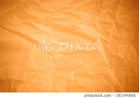 Brown crumpled paper background. 38194868