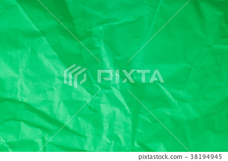 Green crumpled paper background. 38194945