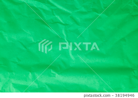 Green crumpled paper background. 38194946