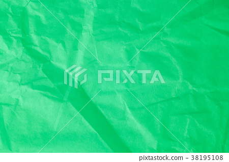 Green crumpled paper background. 38195108