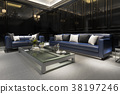 black hotel lounge with reflect classic wall 38197246