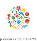 Symbol of Sport Baseball Round Design Template 38198754
