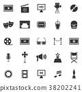Movie icons on white background 38202241