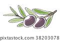 橄榄 水果 莓 38203078