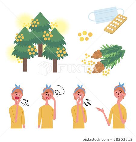 hay fever, set, sets 38203512