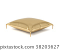 golden, pillow, 3d 38203627
