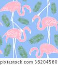 flamingo, backgrounds, pattern 38204560