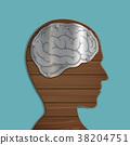 wooden human head 38204751