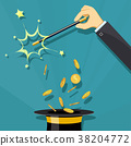 Gold coins and finance 38204772