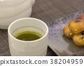 mitarashi dango, dumpling, tea 38204959