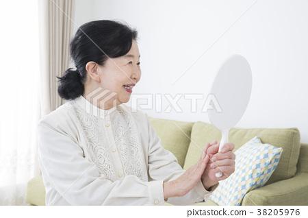 70年代女人用手鏡 38205976