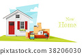 Moving home concept background 38206030