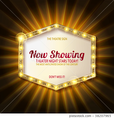 theater sign or cinema sign on curtain 38207965