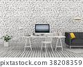 室内装饰 三维 立体 38208359