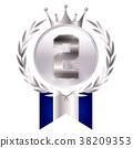 ไอคอนเหรียญเงินมงกุฎ 38209353