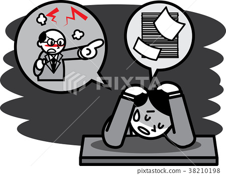 work, distress, trouble 38210198