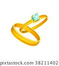 戒指 婚禮 金色 38211402