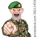 Pointing Soldier Cartoon  38211459