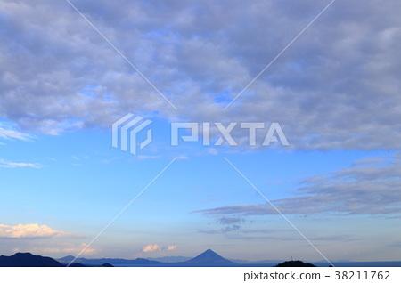 겨울 가고시마 耳取 고개에서 바라 가이 몬 다케 38211762