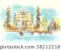 Ahmedabad abstract illustration 38212216