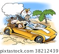 A rich sheik take a drive with a sacred cow 38212439