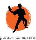 Logo for the club of martial arts. Karate, kung fu 38214036