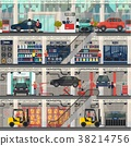 Car dealership with repair and wash, shop rooms 38214756