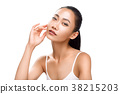 woman dreaming face 38215203