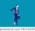 Failure. Businessman injury. Concept business 38216209