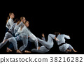 Man and woman fighting at Aikido training in 38216282