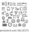 Education Icons Flat design 38216375