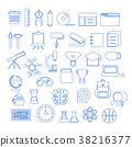 Education Icons Thin Line vector 38216377