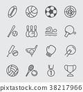 Sport line icon 38217966
