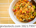Fried rice with seafood in Japanese style 38217997