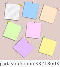 blank squared notepad pages and pin. 38218603