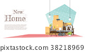 Moving home concept background 38218969