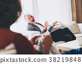 Senior couple relaxing at home. 38219848