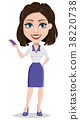 Beautiful business woman holding smartphone 38220738