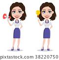 Beautiful business woman 38220750